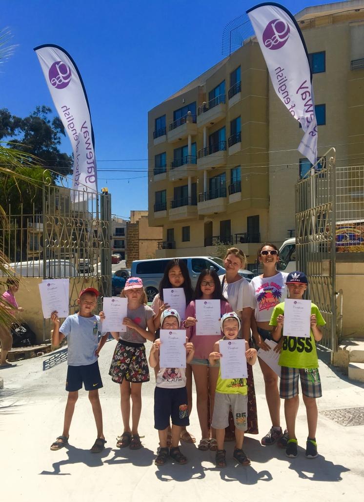 Giovani studenti al corso Gateway a Malta